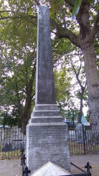 Daniel Defoe's grave monument